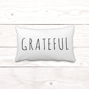 """Grateful"" Lumbar-Pillow Cover"