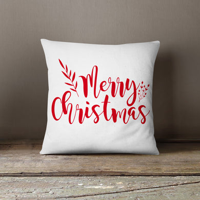 Red Merry Christmas-Pillow Cover