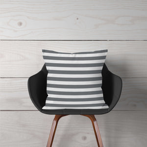 Grey & White Stripe Accent