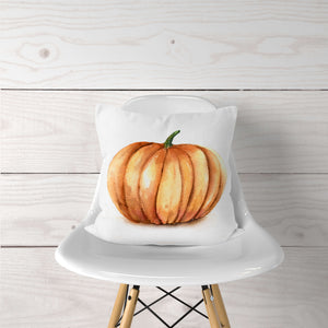 Watercolor Pumpkin-Pillow Cover