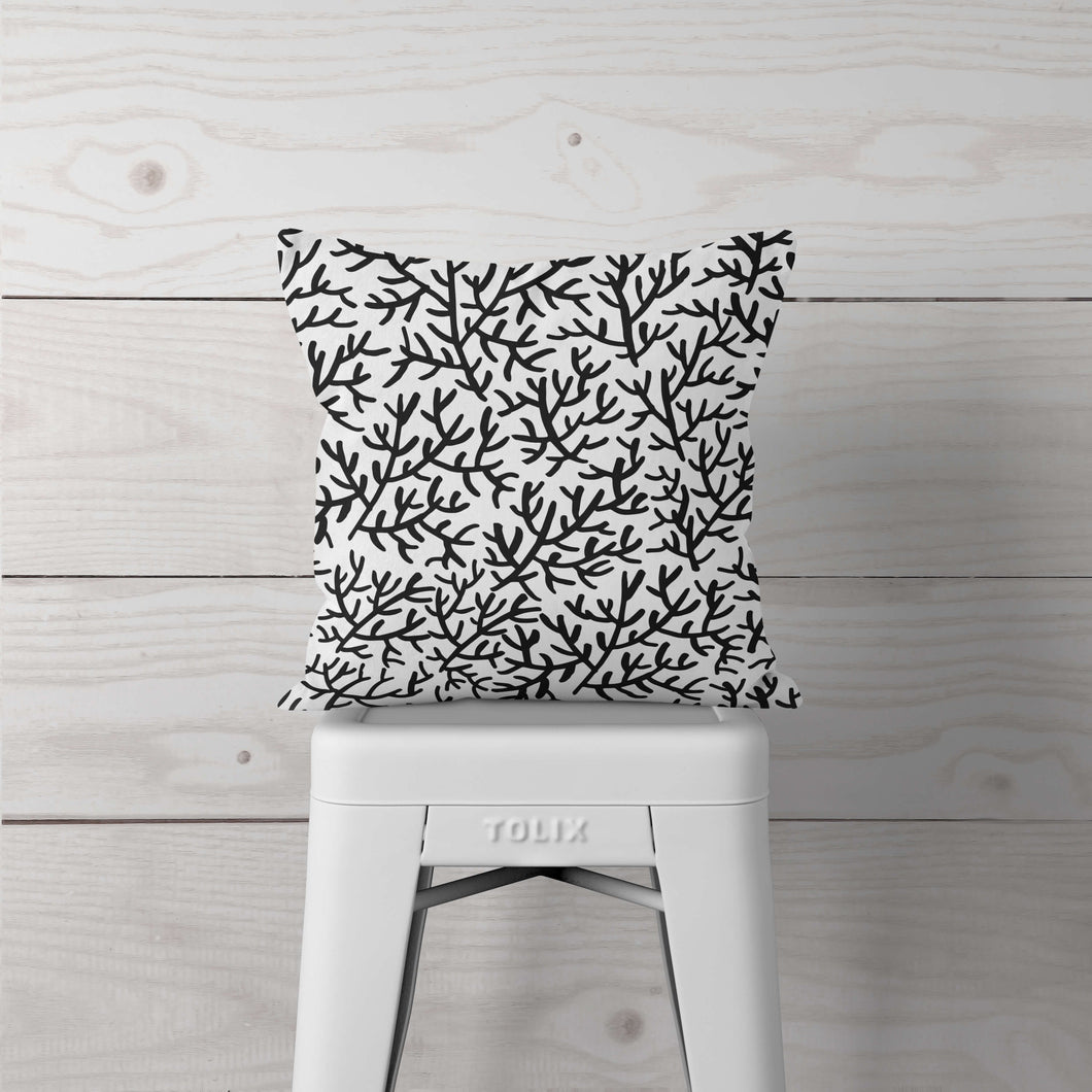 Black Coral-Pillow Cover