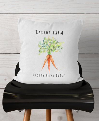 Watercolor-Carrot Farm-Pillow Cover