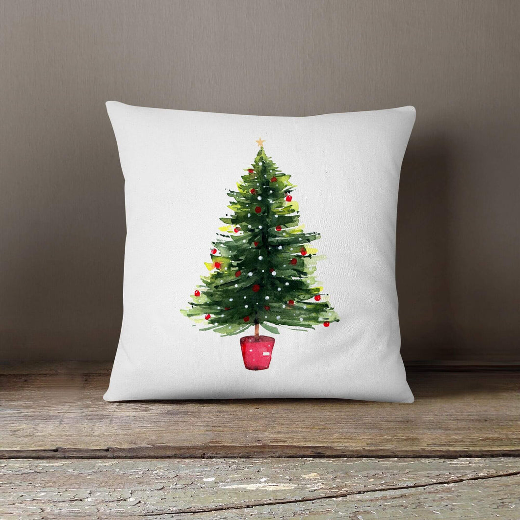 Watercolor Christmas Tree-Pillow Cover