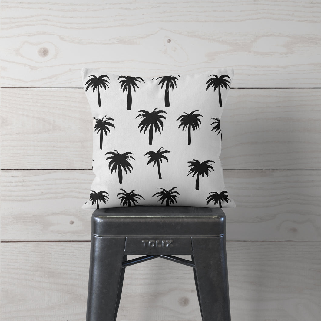 Black Palm Trees-Pillow Cover