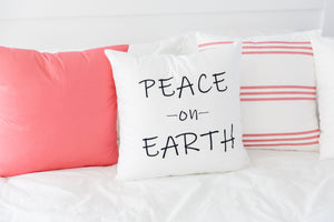 NEW!! Peace on Earth Pillow Cover