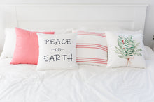 NEW!! Pale Red Stripe Pillow Cover