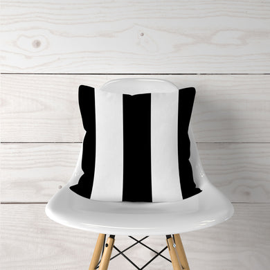 Black Thick Stripe-Pillow Cover