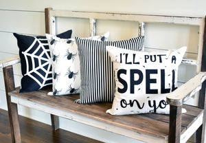 Black Stripe-Pillow Cover
