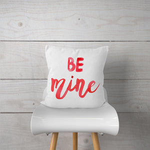 Be Mine-Watercolor-Pillow Cover