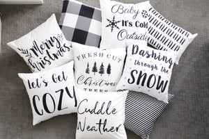 Fresh Cut Christmas Trees-Pillow Covers