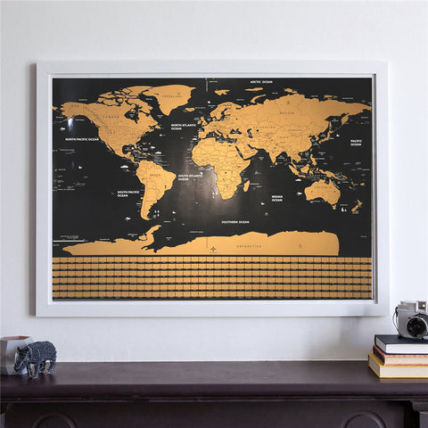 Scratch off world map limited edition istoreon our maps are made of custom specialty paper publicscrutiny Images