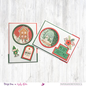 CHRISTMAS JOY - Shaker Christmas Cards