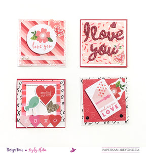 HUGS & KISSES - Mini Valentine's Cards