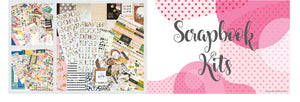 Canada online scrapbooking kits: Patterned Paper, Embellishments and Cardstock. Free shipping