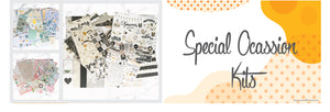 Canada online scrapbooking special occasion kits: Baby, Wedding, Anniversary.