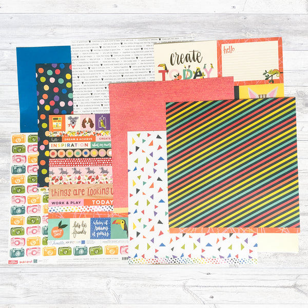 """A COLOURFUL DAY"" PATTERNED PAPER ONLY ADD-ON"
