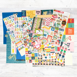 """A COLOURFUL DAY"" SCRAPBOOK KIT"