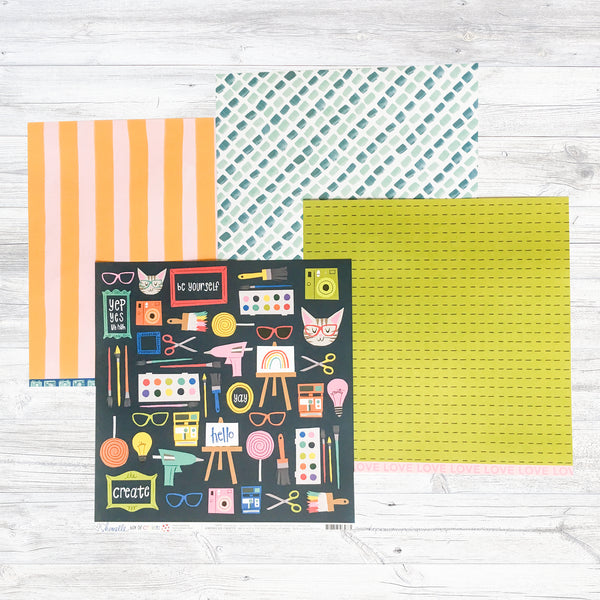 """A COLOURFUL DAY"" PATTERNED PAPER ADD-ON"
