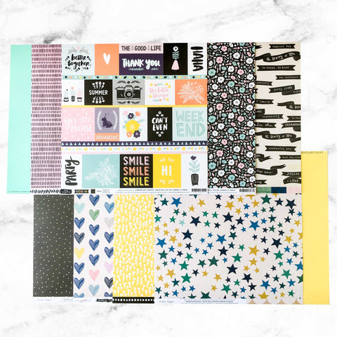 """CHOOSE TO SHINE"" PATTERNED PAPER ONLY ADD-ON"