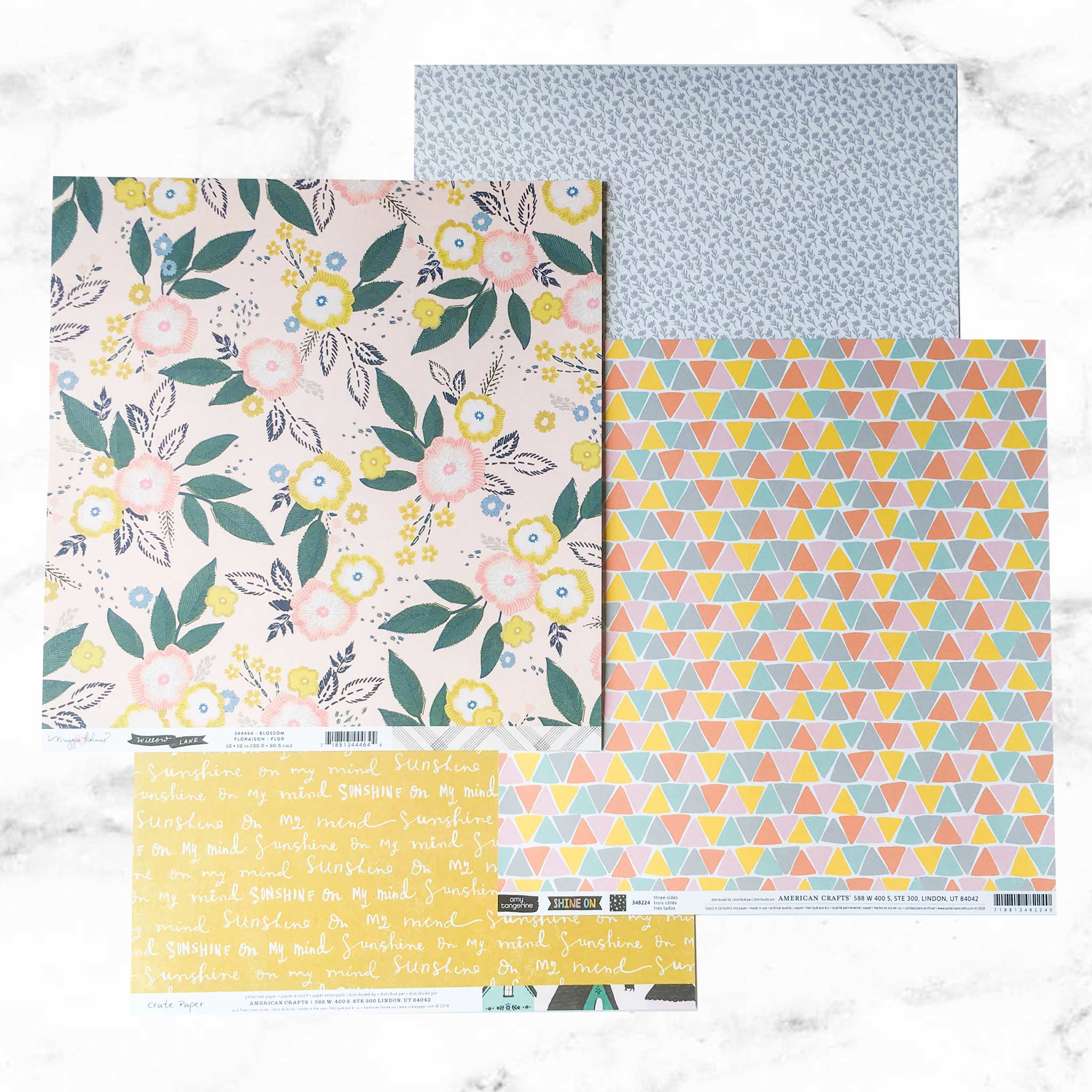 """CHOOSE TO SHINE"" PATTERNED PAPER ADD-ON"