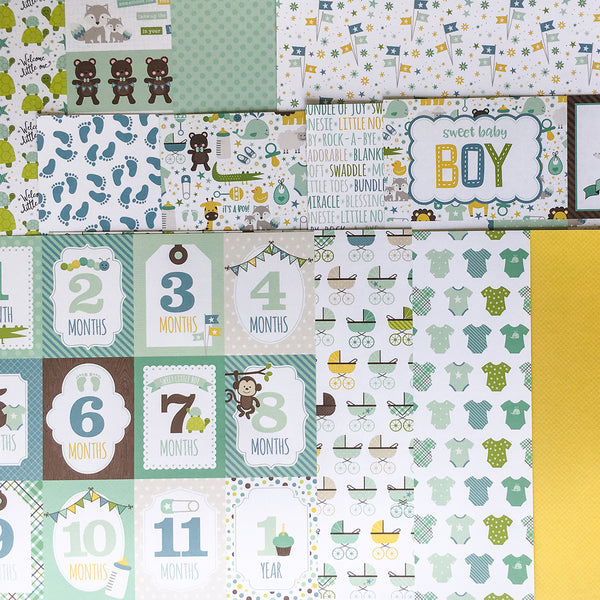 """IT'S A BOY"" SCRAPBOOK KIT"