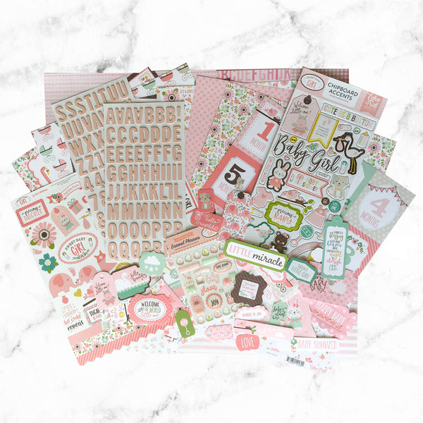 """IT'S A GIRL"" SCRAPBOOK KIT"