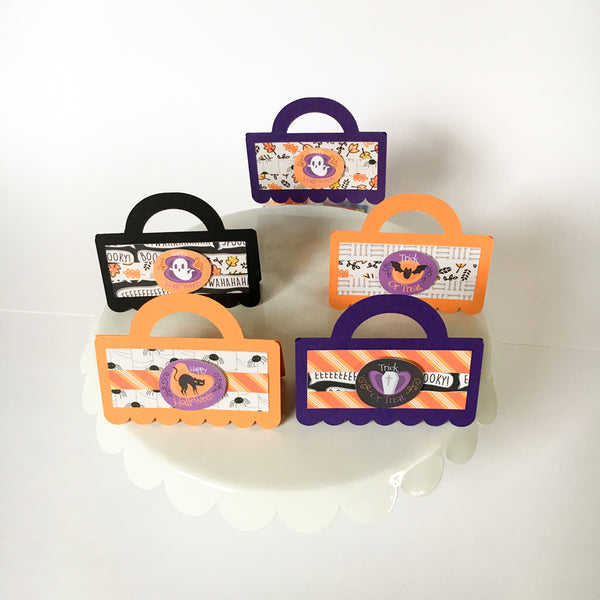 HALLOWEEN BAG TOPPERS (Set of 5) - Style A