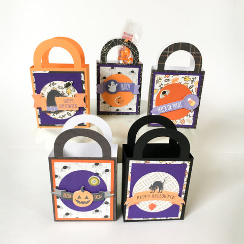 HALLOWEEN TREAT BOXES (Set of 5) - Style B