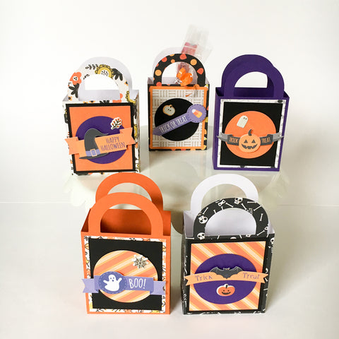 HALLOWEEN TREAT BOXES (Set of 5) - Style A