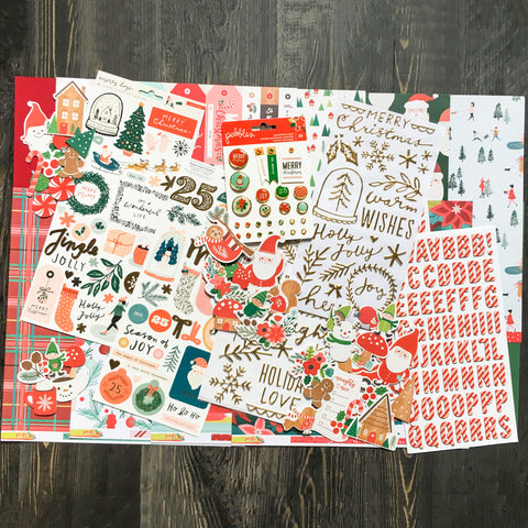 """CHRISTMAS JOY"" SCRAPBOOK KIT"
