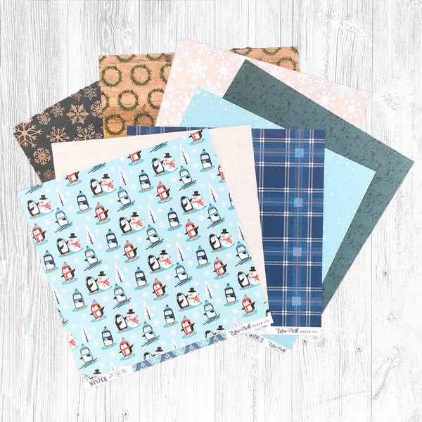 """HELLO WINTER"" PATTERNED PAPER ONLY ADD-ON"