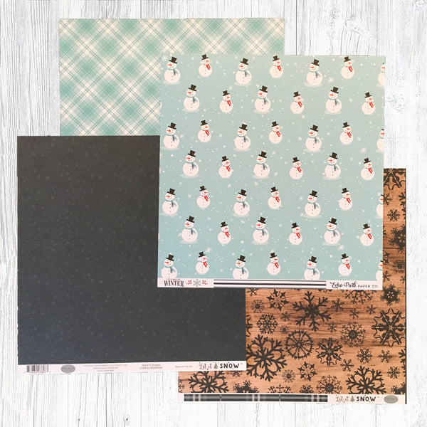 """HELLO WINTER"" PATTERNED PAPER ADD-ON"