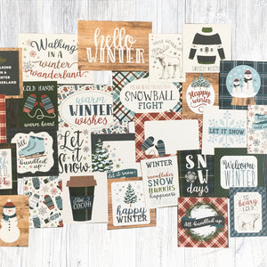"""HELLO WINTER"" JOURNALING CARD ONLY ADD-ON"