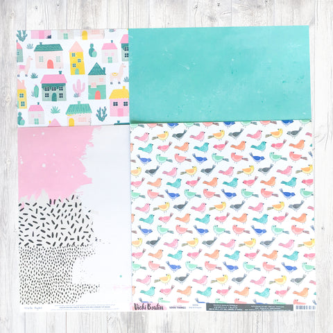 """BE HAPPY"" PATTERNED PAPER ADD-ON"
