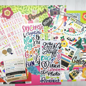 """CHASING RAINBOWS"" SCRAPBOOK KIT"