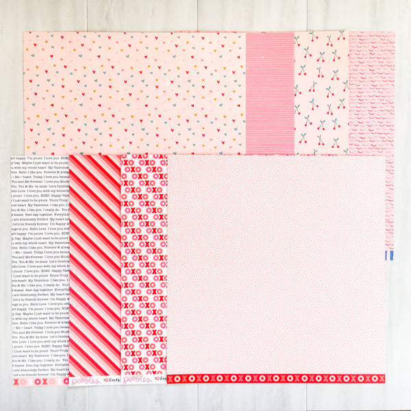 """HUGS & KISSES"" PATTERNED PAPER ONLY ADD-ON"