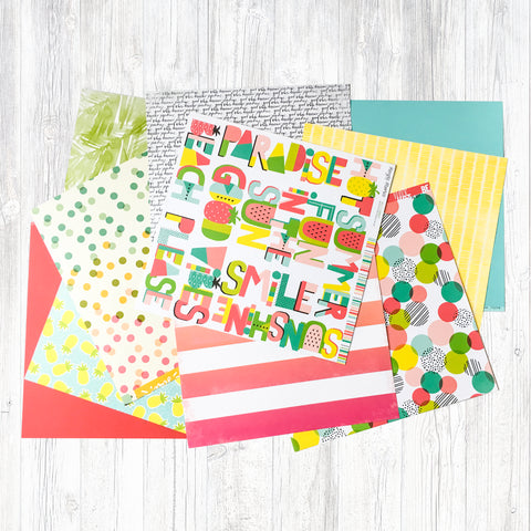 """FUN UNDER THE SUN"" PATTERNED PAPER ONLY ADD-ON"