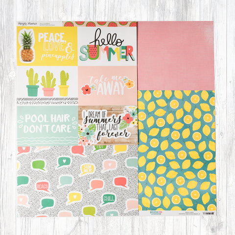 """FUN UNDER THE SUN"" PATTERNED PAPER ADD-ON"
