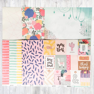 """BE HAPPY"" PATTERNED PAPER ONLY ADD-ON"