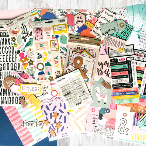 """BE HAPPY"" SCRAPBOOK KIT"