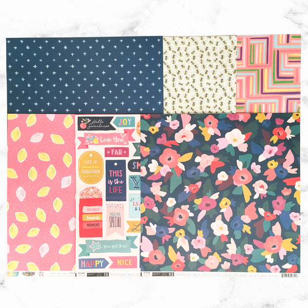 """BRIGHTEN ME UP"" PATTERNED PAPER ONLY ADD-ON"
