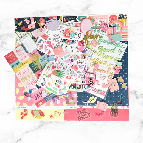 """BRIGHTEN ME UP"" SCRAPBOOK KIT"