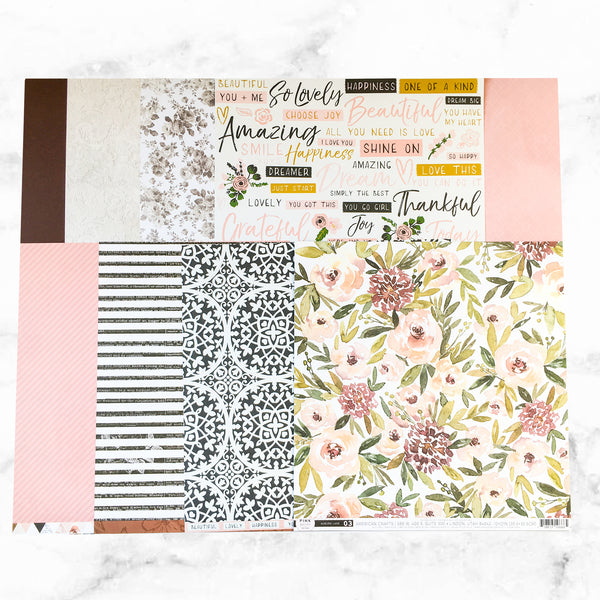 """SWEET BLOOMS"" PATTERNED PAPER ONLY ADD-ON"