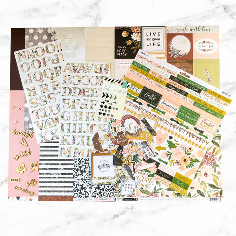 """SWEET BLOOMS"" SCRAPBOOK KIT"