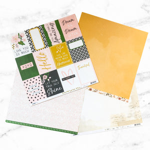 """SWEET BLOOMS"" PATTERNED PAPER ADD-ON"