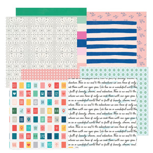 """ADVENTURE AWAITS"" PATTERNED PAPER ADD-ON"
