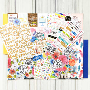 """FOLLOW YOUR BLISS"" SCRAPBOOK KIT"