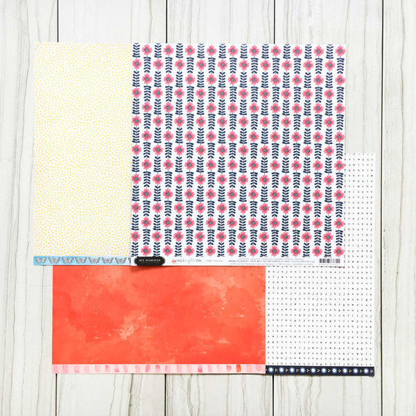"""FOLLOW YOUR BLISS"" PATTERNED PAPER ADD-ON"