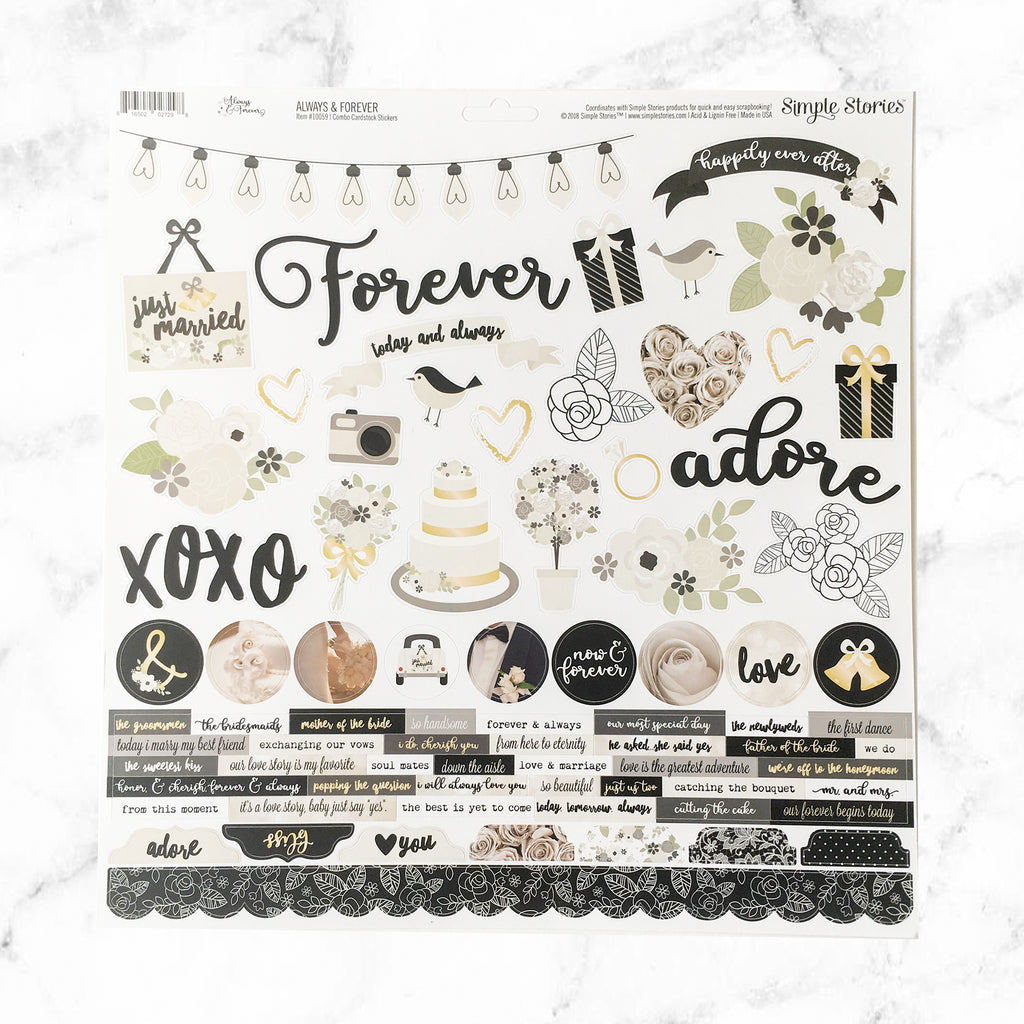 """""""FOREVER & EVER"""" SCRAPBOOK KIT - Papers & Beyond"""