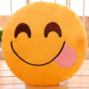 Naughty Emoji Pillow